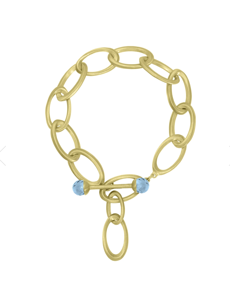 ORIGAMI INFINITY BRACELET BLUE TOPAZ