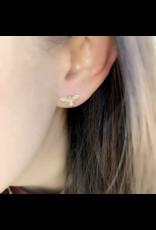 14KY Small Bee Earrings
