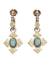 Armenta Old World Petite Opal Cross Earring