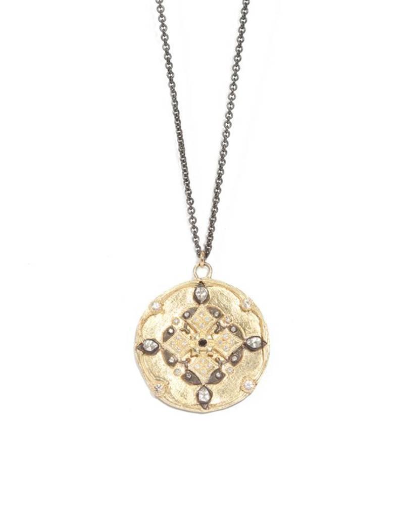 Armenta Old World Yellow Gold Shield Layer Chain