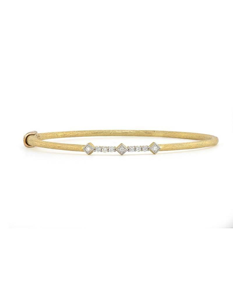 Jude Frances Triple Kite Lisse Pave Bangle