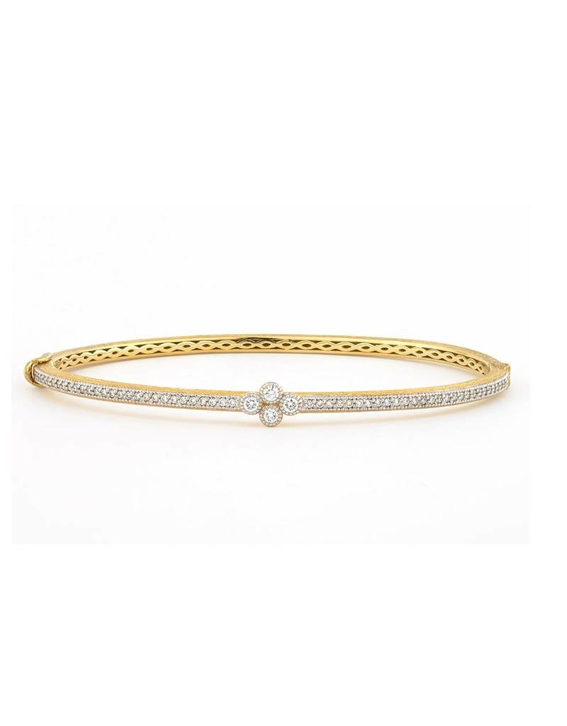 Provence Bangle with Single Diamond Quad