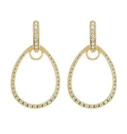 Jude Frances Classic Pave Tear Drop Earring Charm