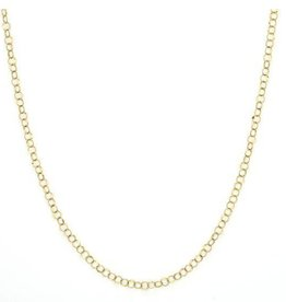 "Jude Frances 18KY 18"" Hammered Circle Chain"