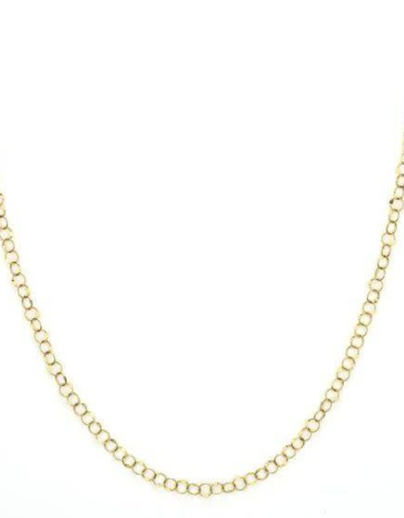 """Jude Frances 18KY 18"""" Hammered Circle Chain"""
