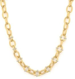 Jude Frances Lisse Pave Rondell Loopy Chain Necklace