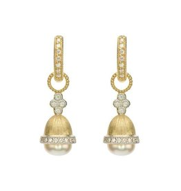 Jude Frances 18KY Provence Quad Cap Pearl Earring