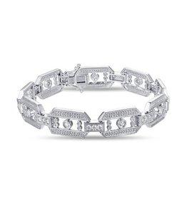 14KW Diamond Link Bracelet 1.82ct RD