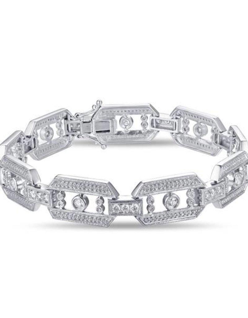 Luvente 14KW Diamond Link Bracelet 1.82ct RD