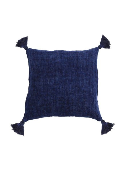 Pom Pom at Home Montauk Indigo Tassel Pillow