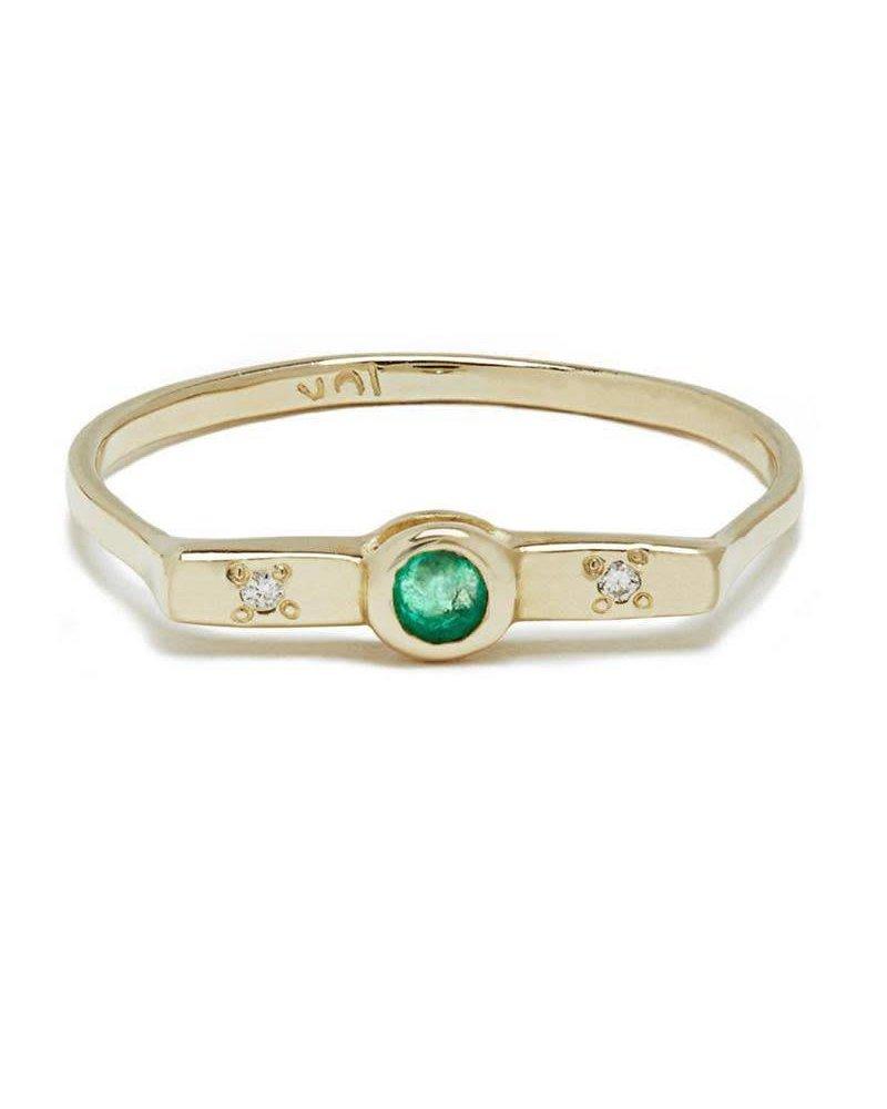 Scosha Wish Band- Emerald and White Diamond
