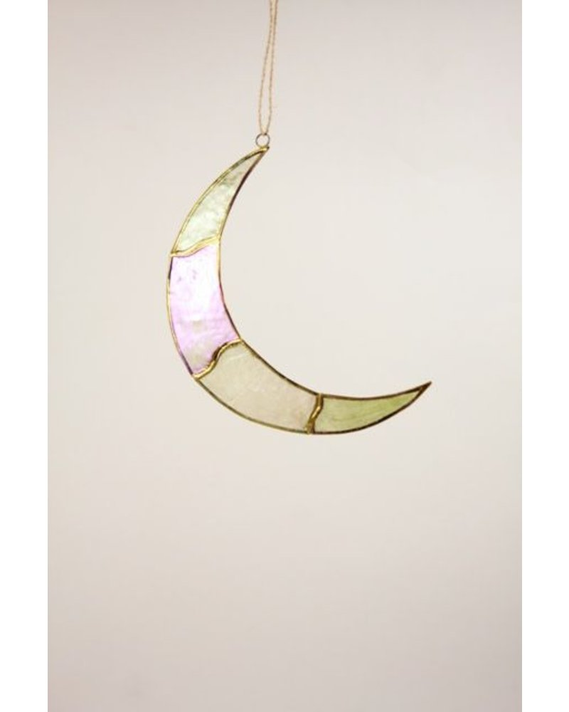 Cody Foster Capiz Multi Moon Ornament- Large