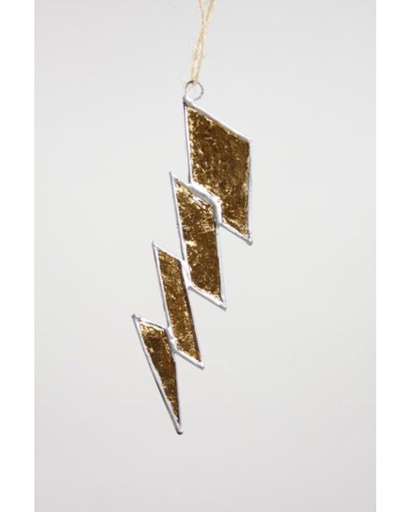 Lightning Ornament - Gold Leaf