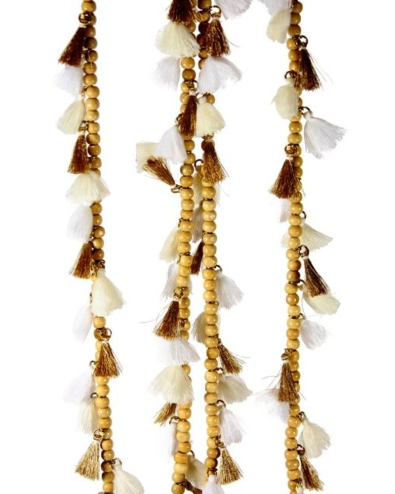 Tasseled Bead Garland- Neutral