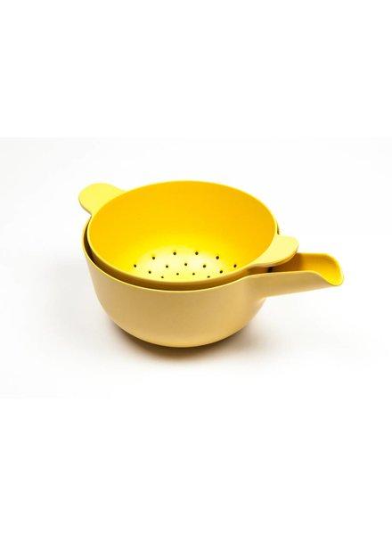 Ekobo Pronto Small Handy Bowl and Colander Set - Lemon