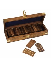 Upper Deck Wooden Dominoes Game Set