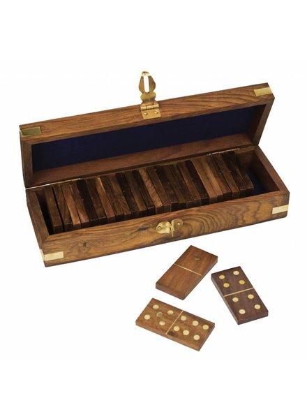 Upper Deck Wooden Dominoes Game Set