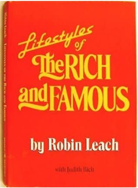 Lifestyles Of the Rich and Famous Vintage Book