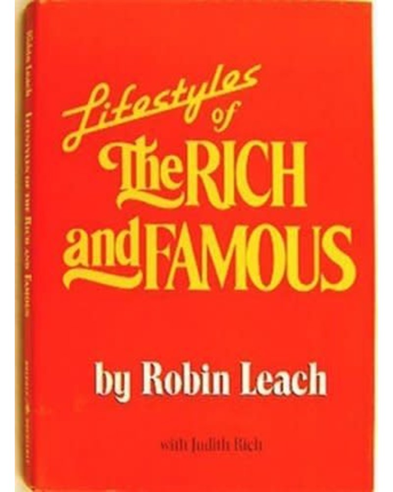 Vintage Lifestyles Of the Rich and Famous Vintage Book