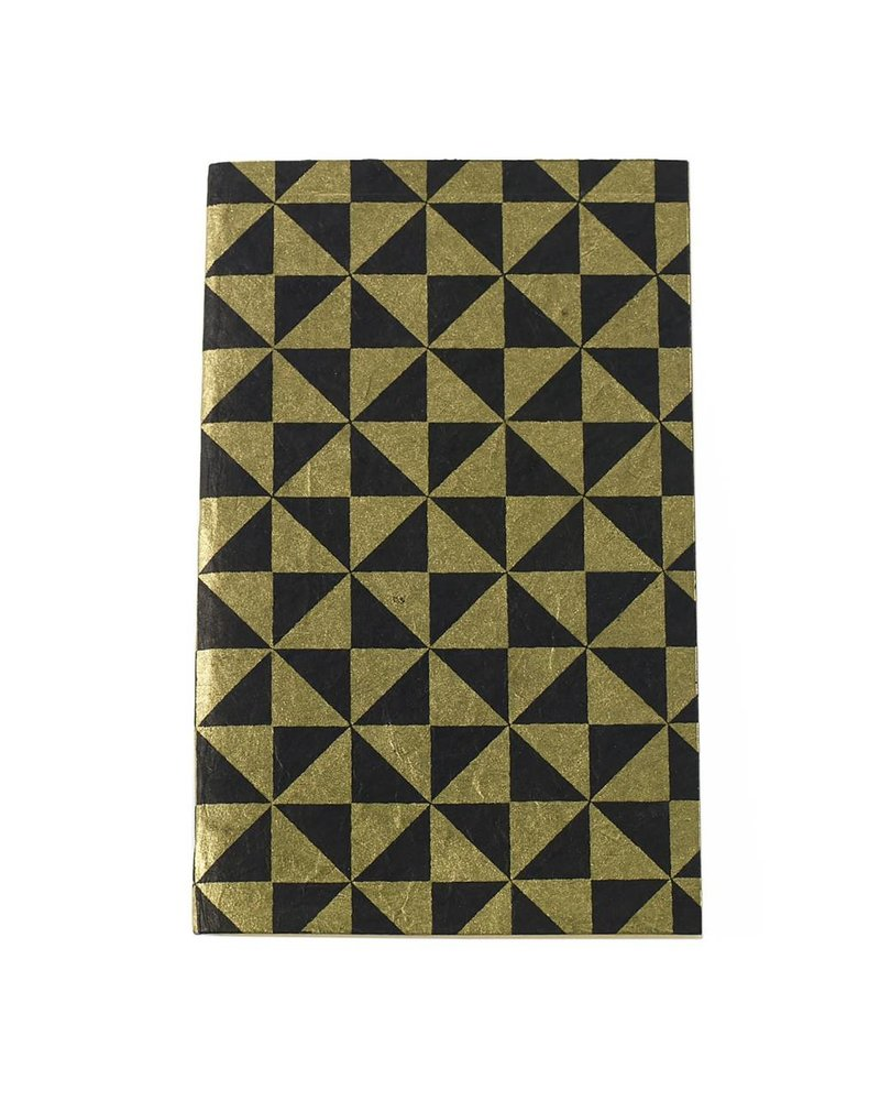 Accent Decor Gold and Black Geo Patterned Notebook