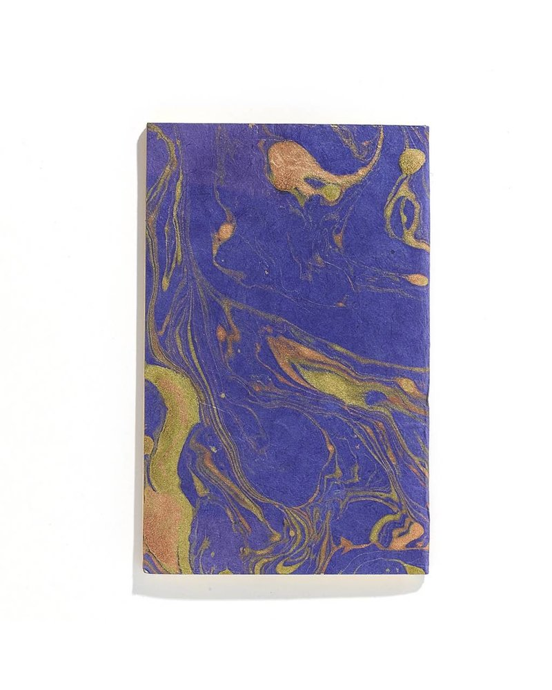 Accent Decor Blue Marble Pattern Notebook