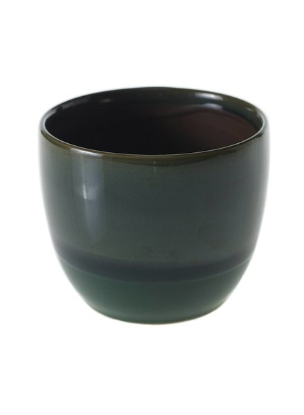 Accent Decor Jade Glazed Ceramic Briza Planter Pot