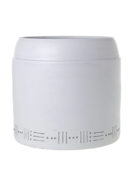 Accent Decor Giant White Taho Planter