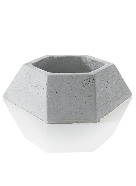 White Clay Polygon Shallow Flux Planter