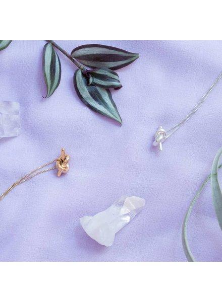 Slate & Stone State & Stone- Mini Knot Necklace