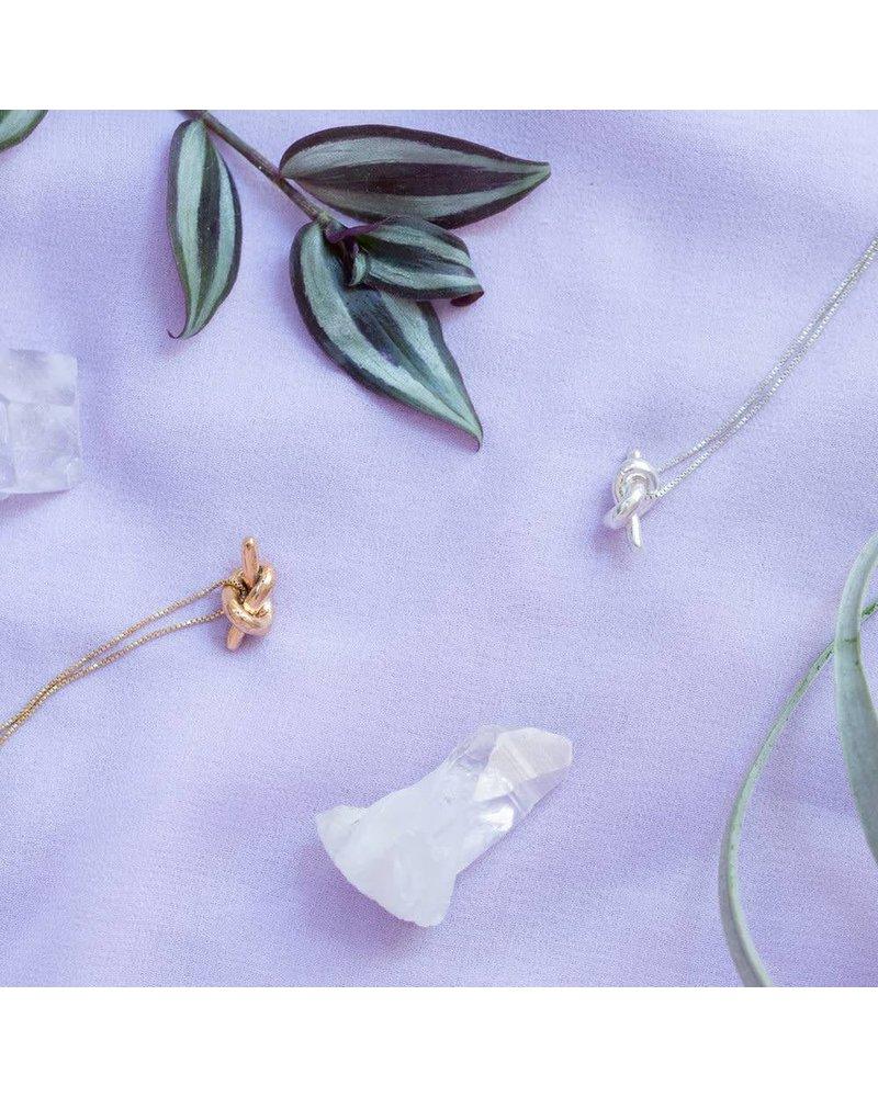 Slate & Stone Slate & Stone Mini Knot Necklace -Gold