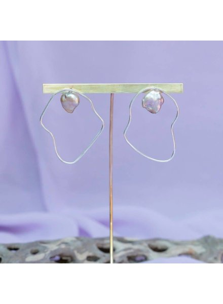 Slate & Stone Slate & Stone- Oyster Pearl Earrings