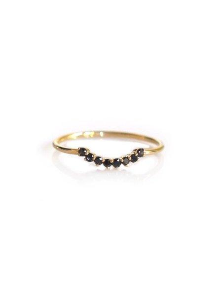 La Kaiser La Kaiser Cascade Black Diamond Ring 7.5