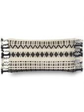 Loloi Black & White Wool Pillow
