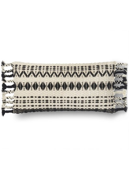 Loloi Black & White Wool Pillow