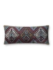 Loloi Multi Colored Shag Pillow