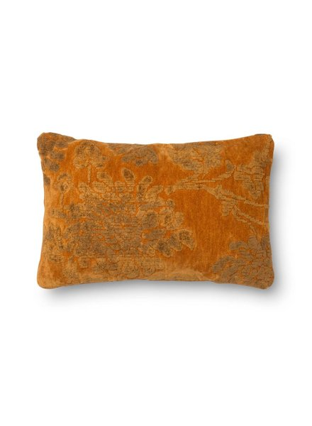 Loloi Mustard Pillow with Floral Design