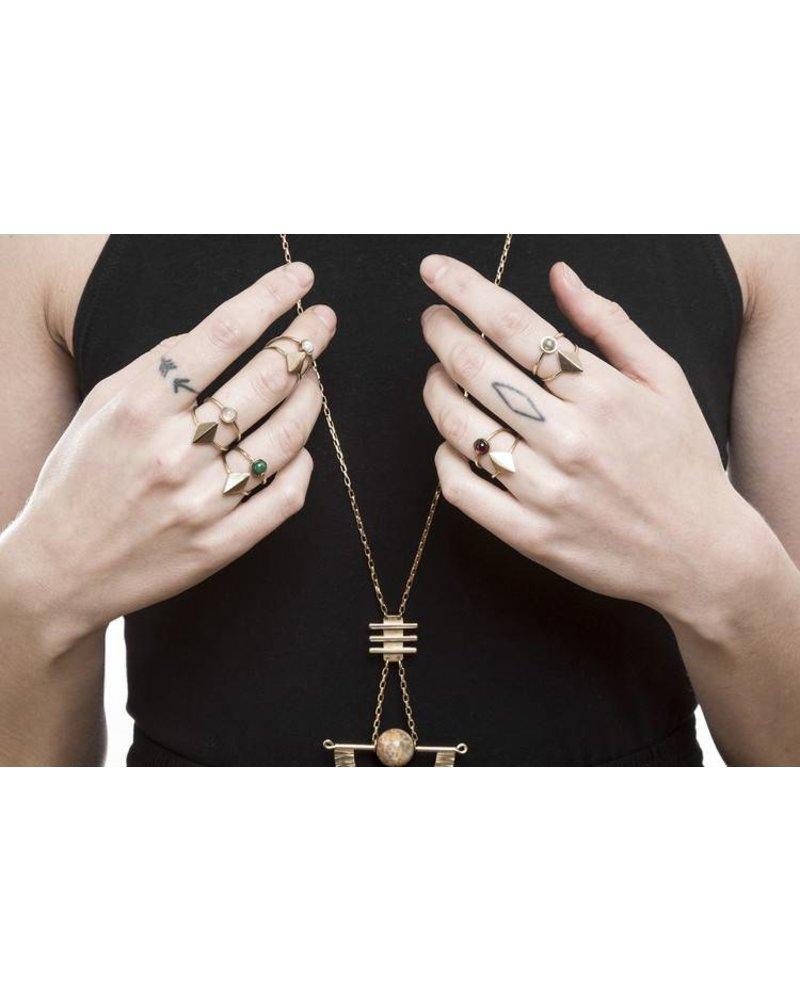 Lindsay Lewis Lindsay Lewis Dia Ring- Brass