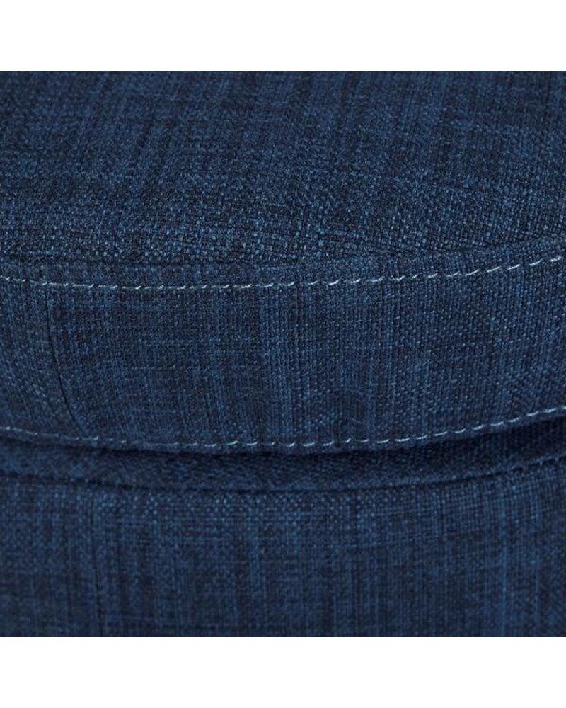 Olliix Irene Round Ottoman- Blue