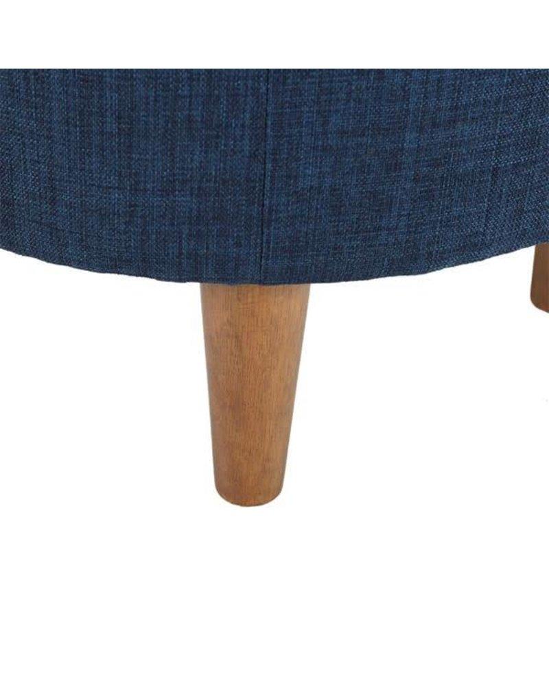 Irene Round Ottoman- Blue