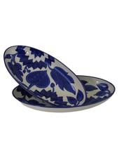 Le Souk Ceramique & Le Souk Olivique Large Stoneware Oval Platter- Jinane Design