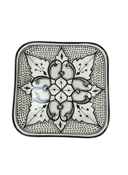 Le Souk Ceramique & Le Souk Olivique Square Stoneware Serving Bowl- Haqima Design