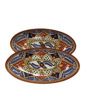 Le Souk Ceramique & Le Souk Olivique Large Stoneware Oval Platter- Marasca Design
