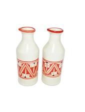 Le Souk Ceramique & Le Souk Olivique Stoneware Oil & Vinegar Cruet- Nejma Design