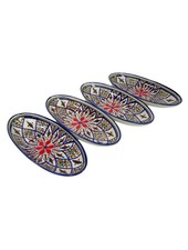 Le Souk Ceramique & Le Souk Olivique Small Stoneware Oval Platter- Tabarka Design