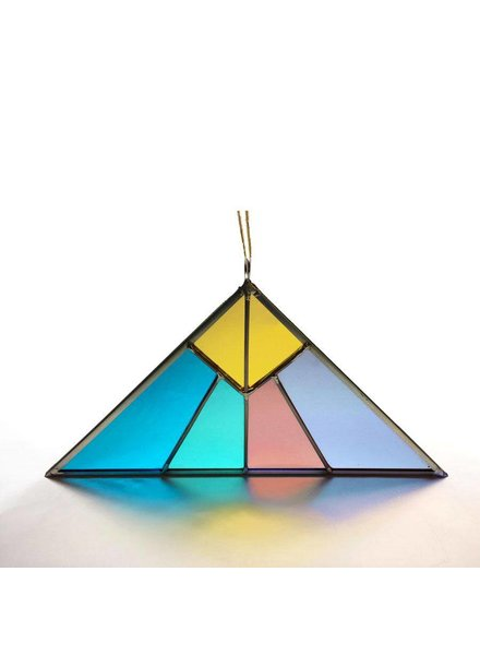 Debbie Bean Pyramid Triangle Glass