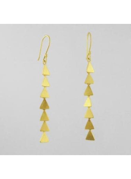 Jane Diaz Jane Diaz- Small Triangle Cascade Earrings