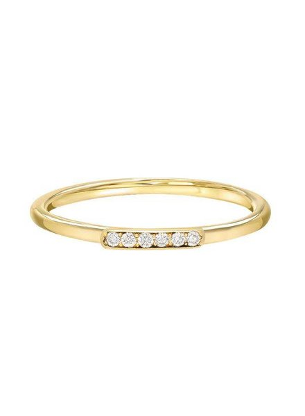 Stacy Nolan Stacy Nolan- Diamond Bar Ring- size 6