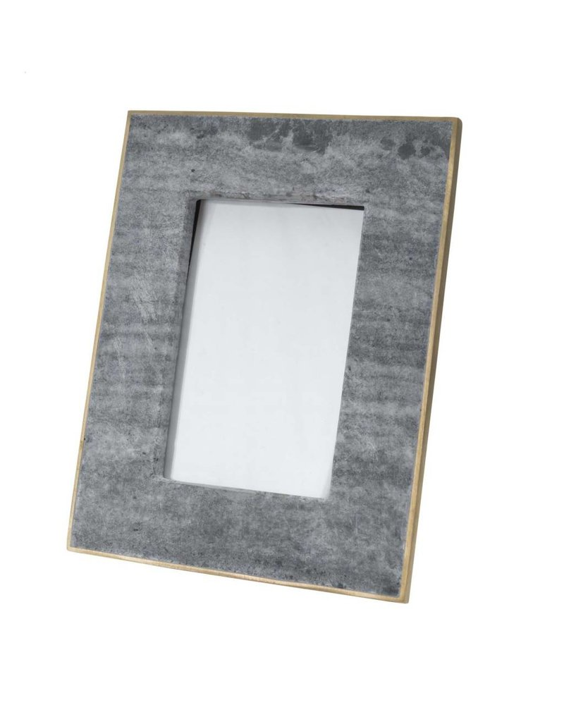 "BIDKhome Black Marble & Brass Photo Frame- 6""x4"""