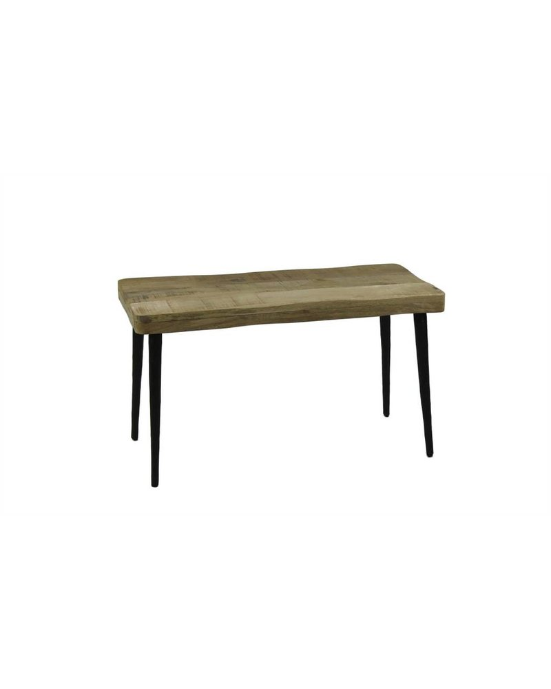 Rustic Wood & Iron Bench