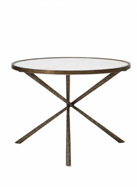 Iron & Marble Tripod Table